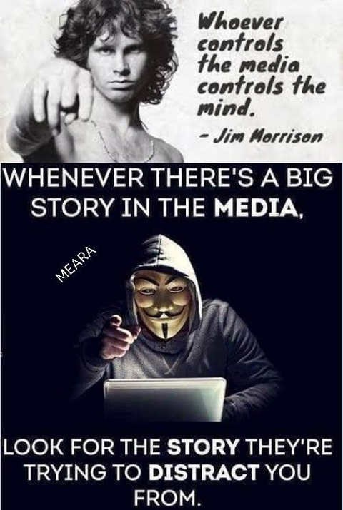 quote jim morrison whoever controls media controls mind what is media trying to distract you from