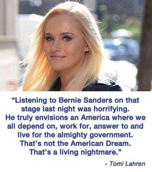 quote listening to bernie sanders horrifying tomi lahren