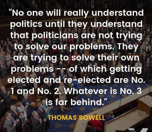 quote thomas sowell politicians only problem solving is getting re elected