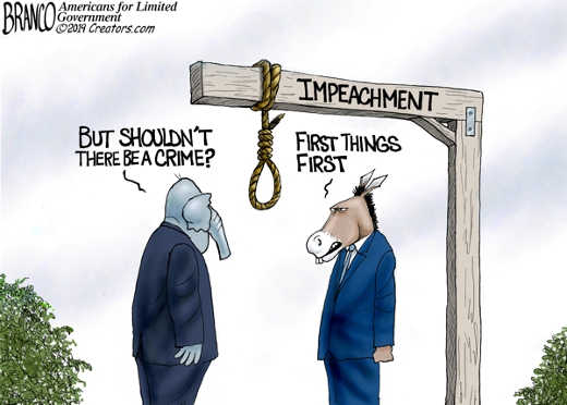 trump impeachment first shouldnt there be crime noose