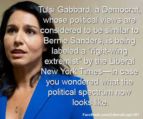 tulsi gabbard views similar to bernie sanders considered right wing extremist by new york times
