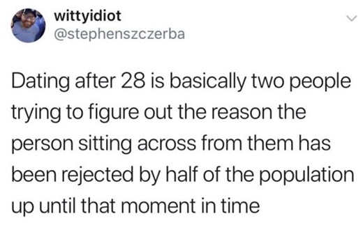 tweet dating after 28 two people determining my rest of population rejected date
