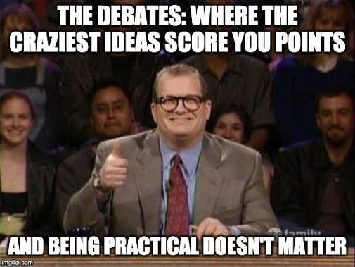 welcome to debates craziest ideas score points being practical doesnt matter