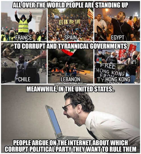 all over world people standing up to oppressive governments us arguing which party to rule