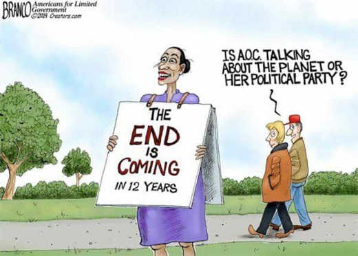aoc end is near the world or her political party