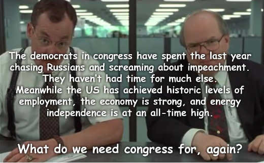 democratic congress what would you say you do here impeachment destroying trump