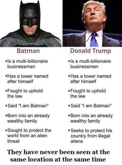 donald trump is batman comparison