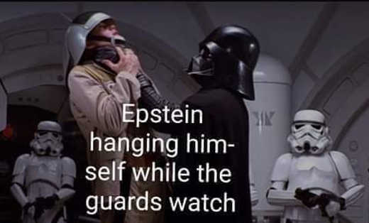 epstein hanging himself while guards watch vader star wars