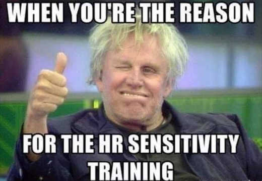 gary busey when youre the reason for hr sensitivity training