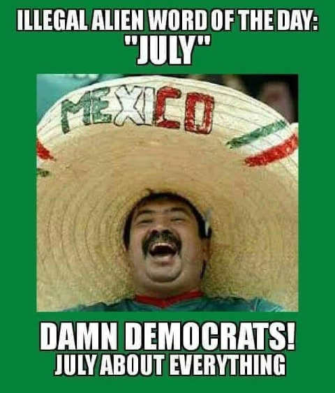 illegal word of day damn democrats july about everything