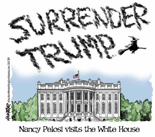 nancy pelosi visits white house surrender trump