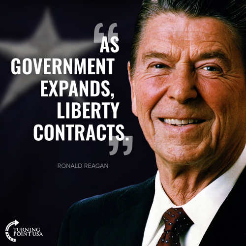 quote as government expands liberty contracts ronald reagan