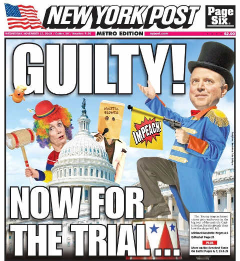 schiff pelosi trump is guilty now for the clown trial