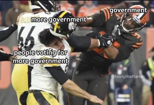steelers browns helmet fight government more government people who vote for it