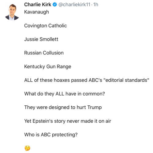 tweet charlie kirt covington smollett russia kentucky abc epstein