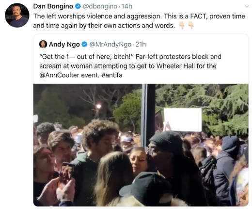 tweet dan borgio andy ngo left violent protestors antifa