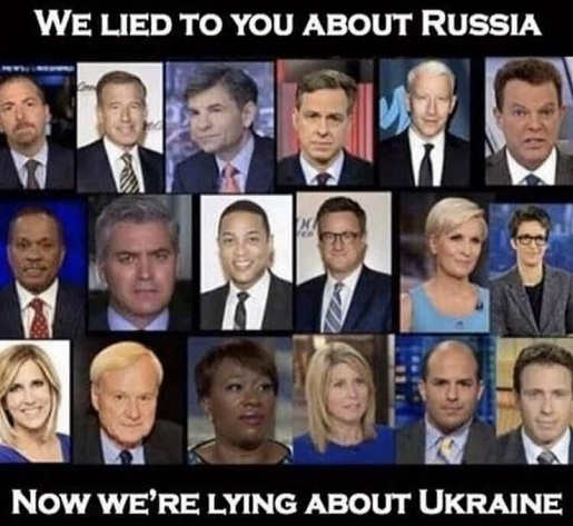we lied to you about russia now were lying about ukraine cnn msnbc cbs abc nyt foxnews