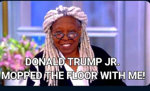 whoopi goldberg donald trump jr mopped the floor with me