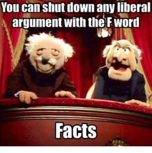 you can shut down any liberal with the f word facts