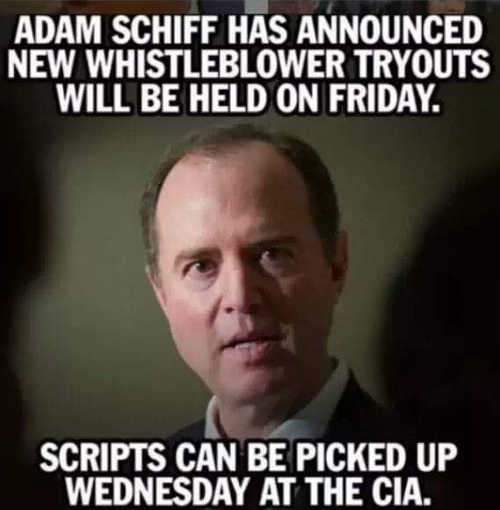 adam schiff new whistleblower tryouts scripts can be picked up at the cia
