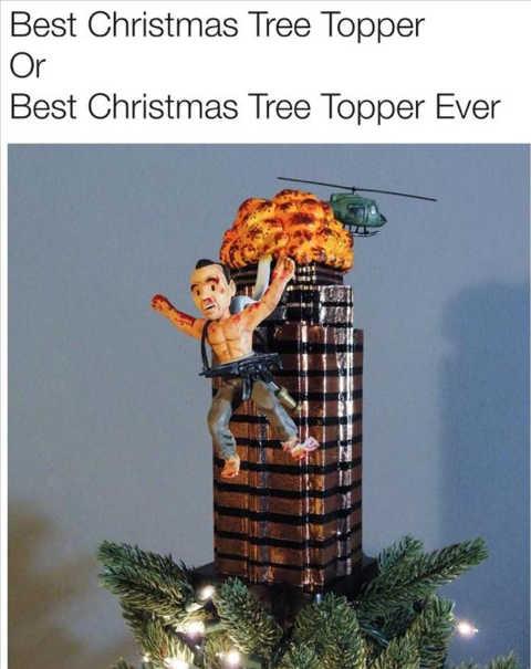 best christmas tree topper ever die hard building