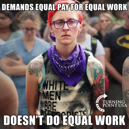 demands equal pay for equal work doesnt give equal work