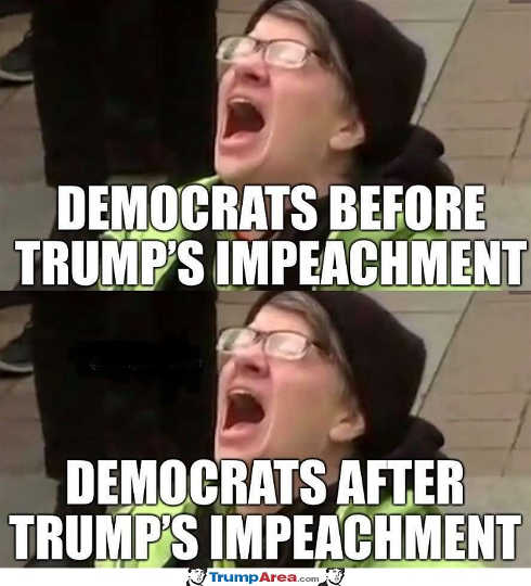 democrats before after trump impeachment screaming
