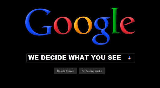 google we decide what you see