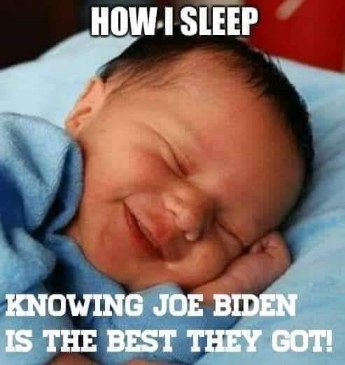 how i sleep knowing joe biden is best democrats got for president