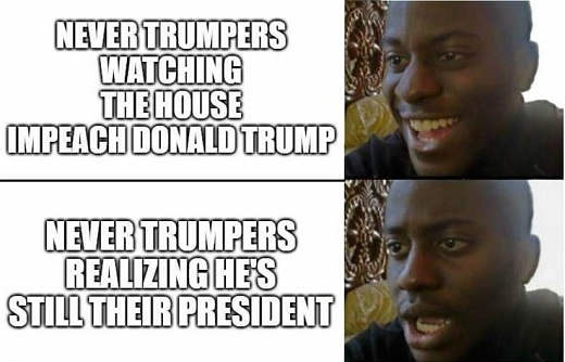 never trumpers watching house impeach realizing he is still president