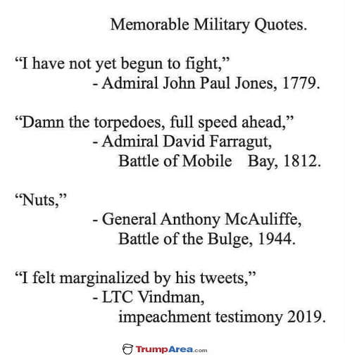 quotes memorable military vindman mcauliffe farragut john paul jones