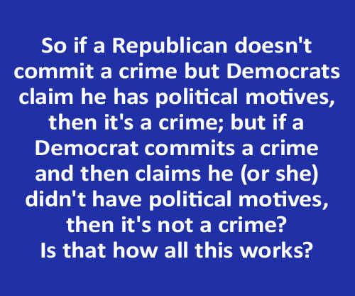 republican doesnt commit crime but democrats claim he has political motives