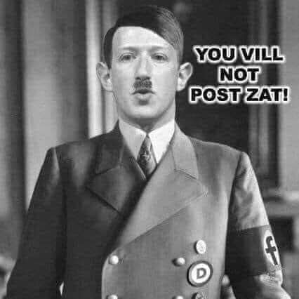 zuckerberg facebook nazi censorship you will not post that