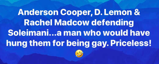 anderson cooper don lemon rachel maddow defending soleimani man who would have hung them for being gay