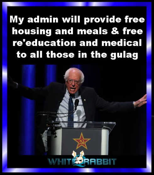 bernie sanders my administration will provide free food reeducation in gulag