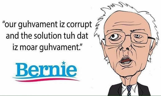 bernie sanders our government is corrupt and solution to that is more government