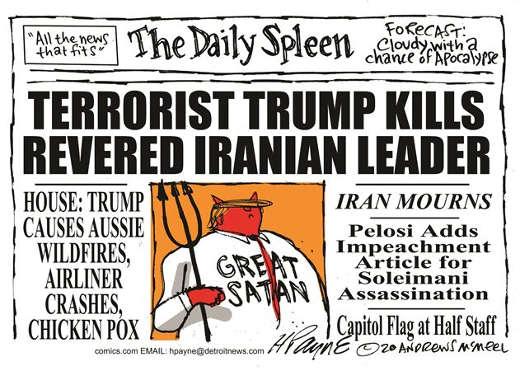 daily spleen terrorist trump kills revered iranian leader great satan