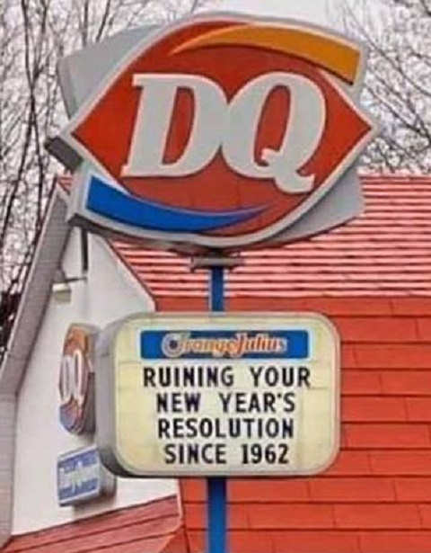 dairy queen ruining your new years resolutions since 1962