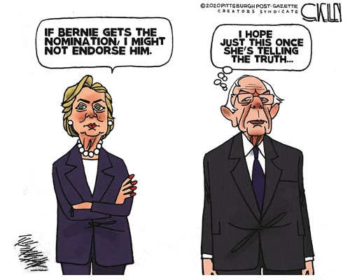 hillary clinton if bernie gets nomination wont endorse sanders please tell truth this time