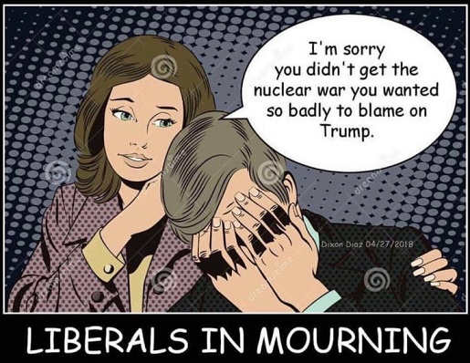 liberal crying sorry you didnt get the iran nuclear war to blame on trump