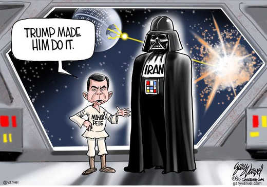 pete buttigieg darth vader trump made him blow up alderan