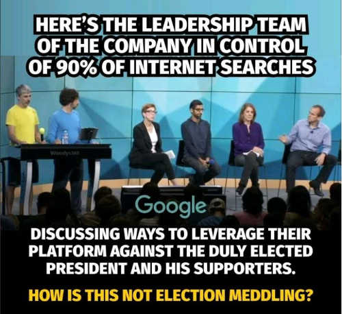 question google in control on 90 percent of searches election interference