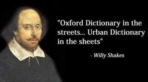 quote shakespeare oxford dicionary in streets urban in the sheets