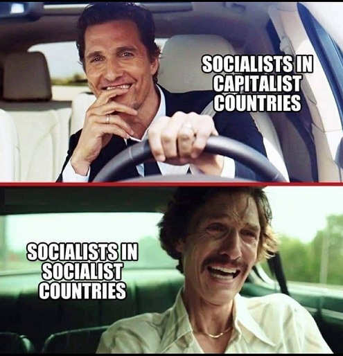 socialist in capitalist vs socialist countries