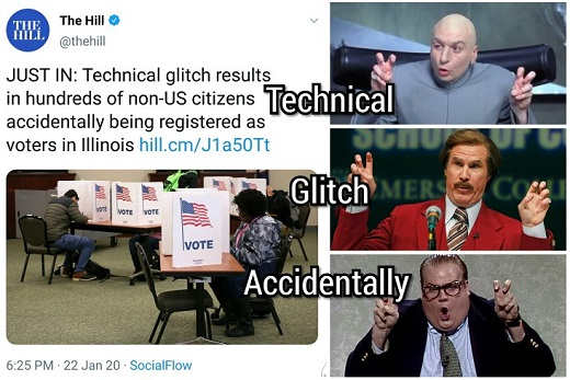 technical glitch quotes results non us citizens accidentally registered in illinois the hill
