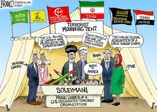 terrorist mourning tent democrat leaders bernie omar death to america