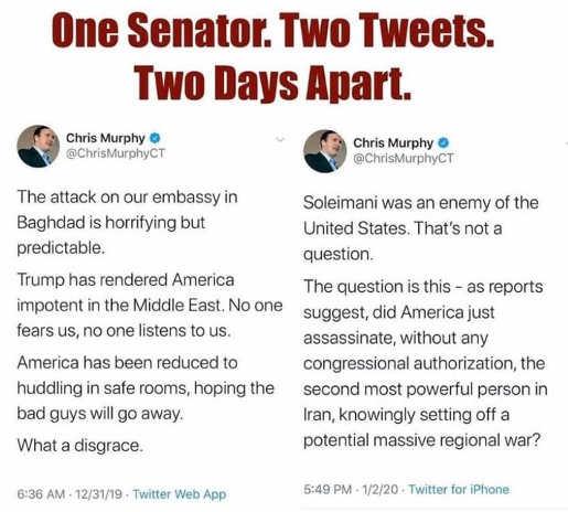 tweet chris murphy one senator two tweets days apart