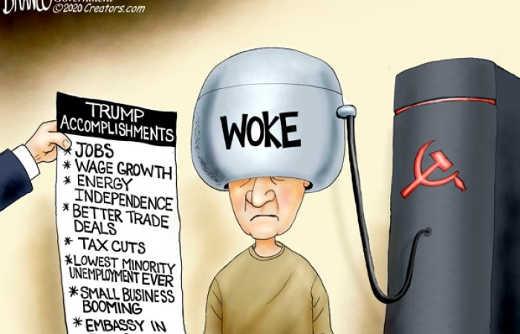 woke pumping soviet communist propaganda ignoring trump accomplishments