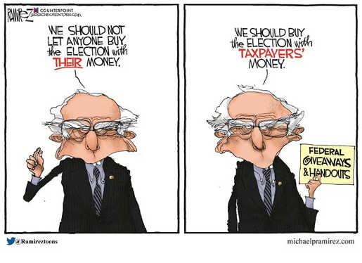 bernie sanders shouldnt let people buy election with their money only with taxpayers money