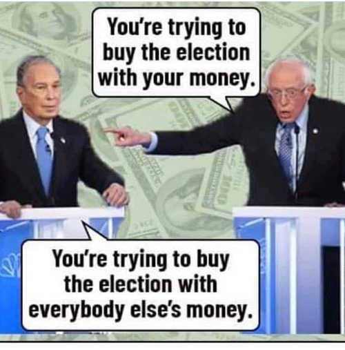 bloomberg trying to buy election with your money sander other peoples